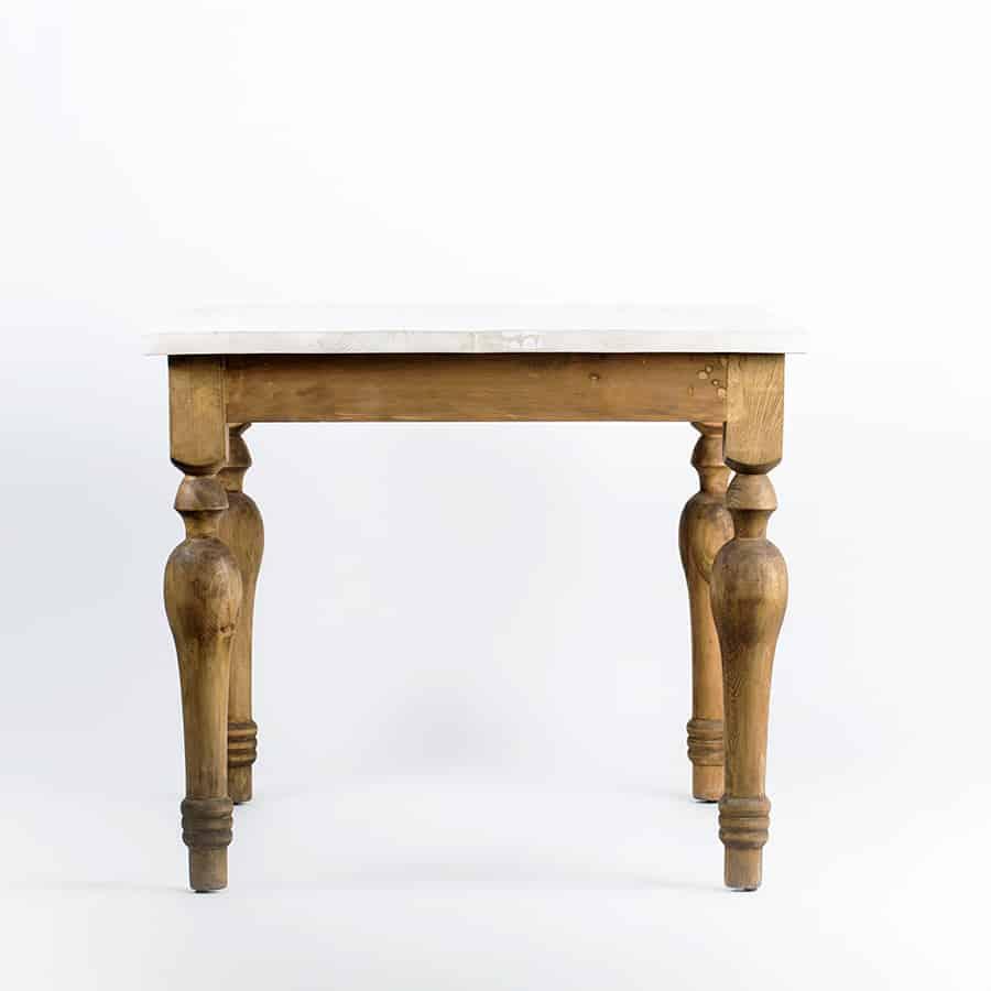 Restaurant Bar Wood Table Baluster