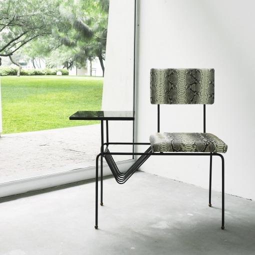 unique metal snake chair